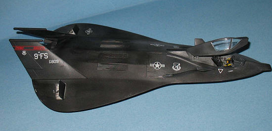 The canopy was assembled at  F 19 Stealth Fighter