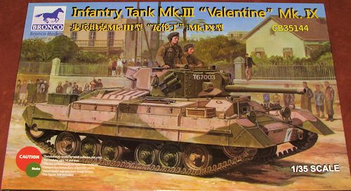 Bronco 135 Valentine Mk III Infantry Tank Previewed By