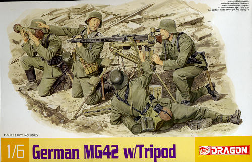 World at War (WWI, WWII, & Civil Wars) MG 34 Tripod 1/6 Dragon Kit