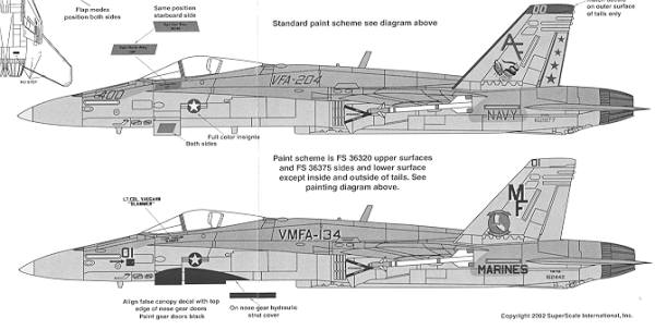 bibayss48764a superscale 48 764 for the f 18 hornet