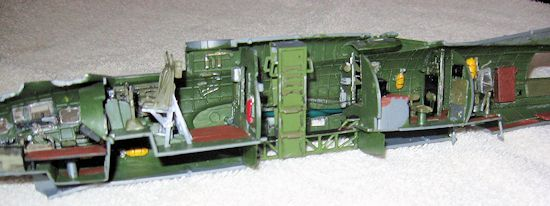 The Kit Interior Is Built Per Instructions Augmented With Various Details  From The Upgrade Set.