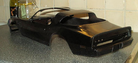 The Entire Body Was Sprayed Black In Two Consecutive Sessions First Coat Being Flat And Second A Very Thin Layer Of Gloss