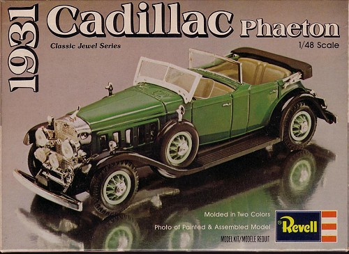 Revell 148 1931 Cadillac Previewed By Bill Michaels