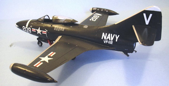 Fisher Model Products 1/32 F9F-2 Panther, by Tom Cleaver