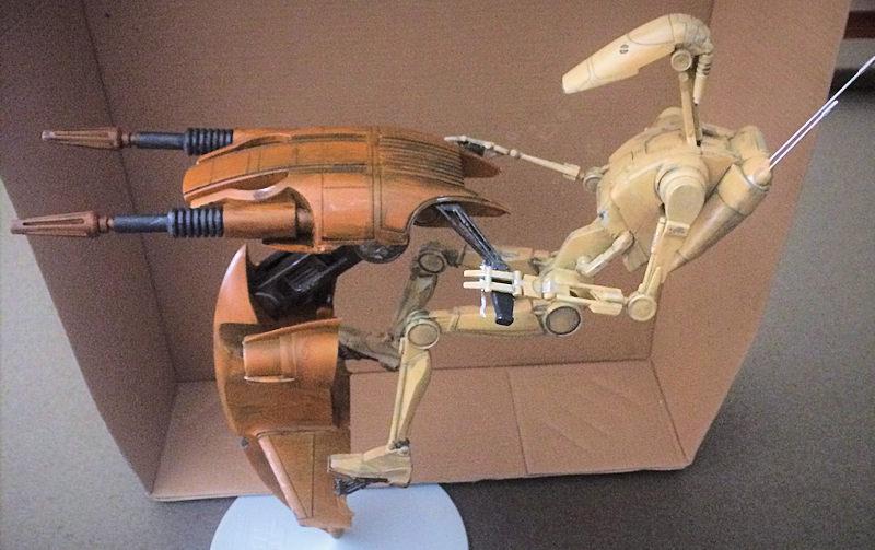 AMT/ERTL 1/6 Star Wars STAP w/ battle droid, by Donald Zhou