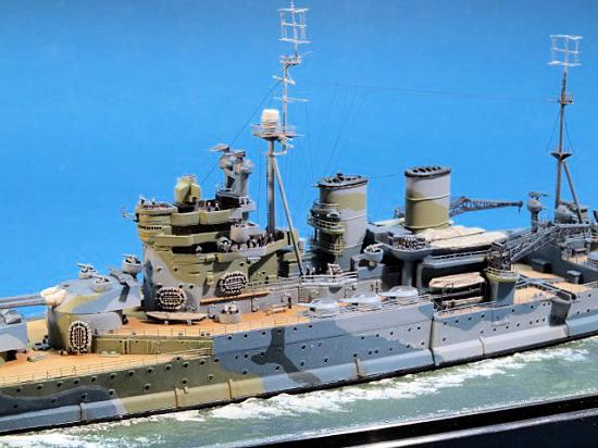 Acrylic Enamel Paint >> Trumpeter/Pit Road 1/700 HMS Renown 1942, by Frank Spahr