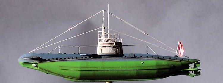 U-Boat Laboratorium's 1/350 Austro-Hungarian WWI Type UB-I submarine