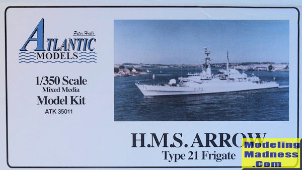 Atlantic Models 1/350 HMS Arrow, previewed by Frank Spahr