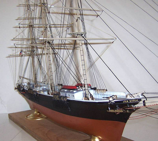1:96 Lindberg Sea Witch wooden deck for modell