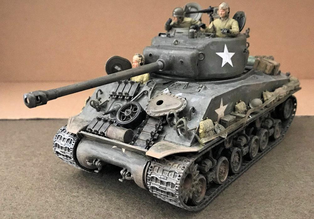"""Tamiya 1/35 M4A3E8 Sherman """"European Theater"""" , by Donald Zhou"""