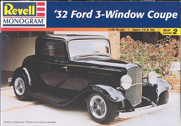 Revell-Monogram 1/25 '32 Ford 3 window coupe preview