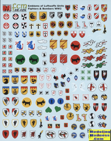 No 72-26 1//72 FCM  Luftwaffe Squadron Unit Emblems