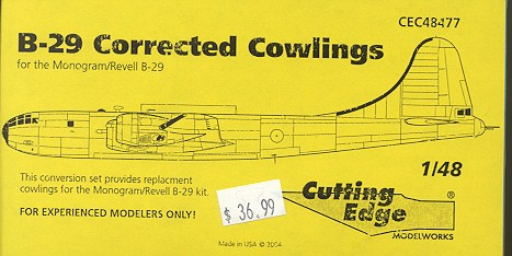 this particular set is designed to replace the engine cowlings for the  monogram b-29