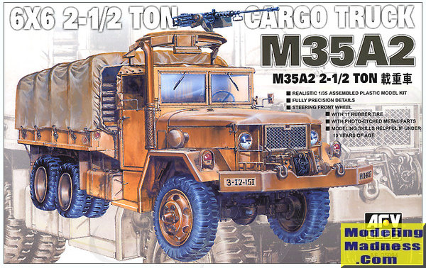 AFV Club 1/35 M35A2 2 5 ton Cargo Truck, previewed by Scott