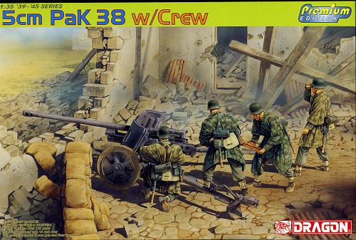 German 50 Mm Anti Tank Gun: Dragon 1/35 5 Cm Pak 38 With Crew, Previewed By Scott Van Aken