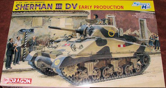 Dragon 1/35 Sherman III DV (early), previewed by Scott Van Aken