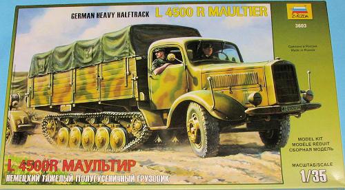 Zvezda 1/35 German Heavy Halftrack L4500R Maultier