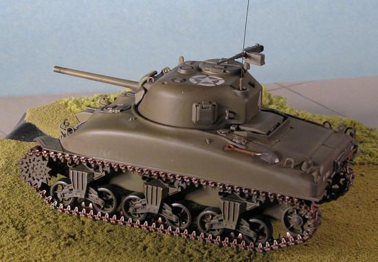 Tamiya 1/48 M4A1 Sherman, by Scott Van Aken