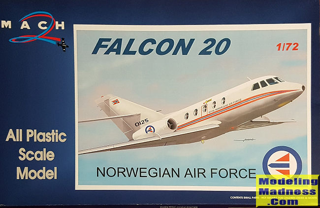 Mach 2 1/72 Falcon 20 (Norwegian Air Force), previewed by