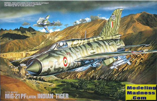 Fujimi 1/72 MiG-21 PF (later), previewed by Scott Van Aken