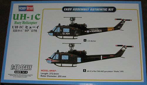 Hobby Boss 1/48 UH-1C 'Huey', previewed by Scott Van Aken